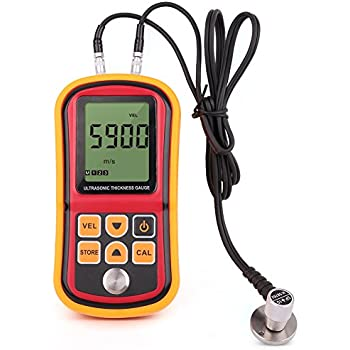 LotFancy Digital Ultrasonic Thickness Gauge Tester Meter, Range 1.2-220mm, with Hard Storage Box
