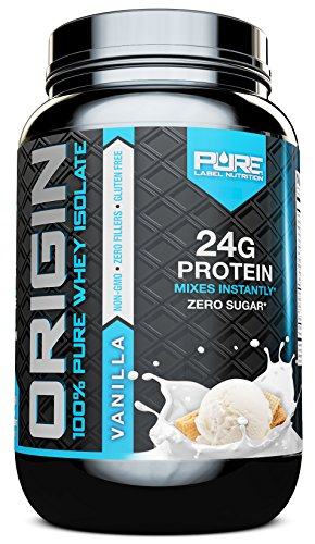 Whey Protein Isolate, Undenatured Whey Protein Powder, Non GMO, Gluten Free, Lactose Free, Sugar Free, 2 pounds (Vanilla)