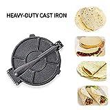 Tortilla Press 7.25'' Cast Iron Heavy Duty Tortilla Press Maker, Black
