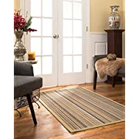 NaturalAreaRugs Boardwalk Sisal Area Rug 2 6 x 14 Sand Border