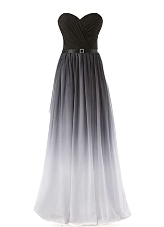 Snow Lotus Womens Long Gradient Color Different Style Chiffon Prom Dresses: Amazon.co.uk: Clothing