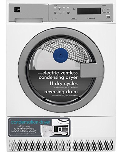 Kenmore 81942 4.0 cu. ft. Compact Front-Load Electric Condensing Dryer, White