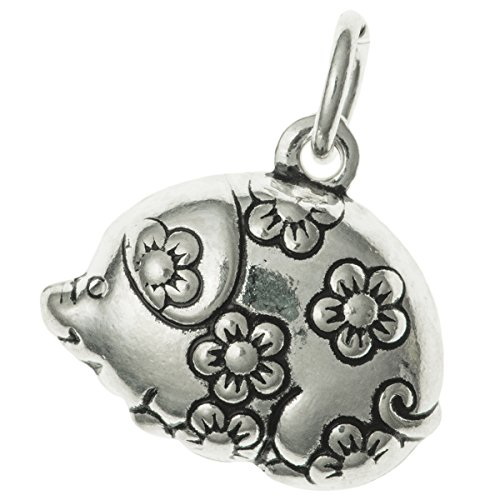Dreambell Antique .925 Sterling Silver Chinese Zodiac Year Animal Boar/Pig Dangle Charm Pendant