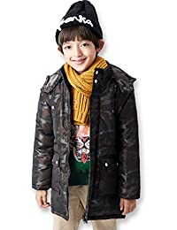 BYCR Boys' Hooded Long Jacket Winter Outerwear for Kids Size 4-12 No. 6157100882