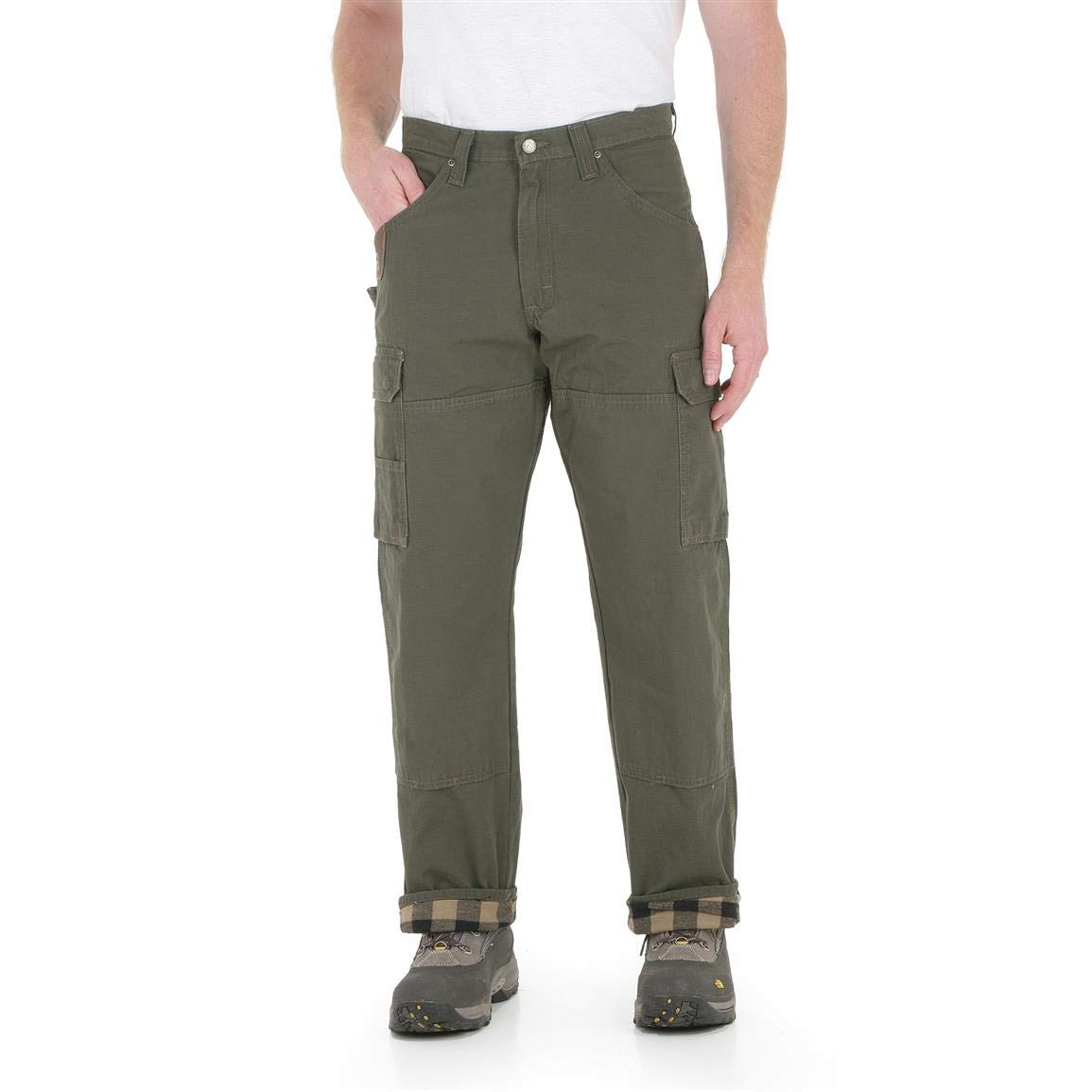 14ca5f10 Amazon.com: Wrangler Men's Riggs Workwear Flannel Lined Ripstop Ranger Pant:  Clothing