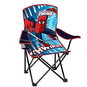 Amazon Com Spiderman Youth Folding Chair With Armrest