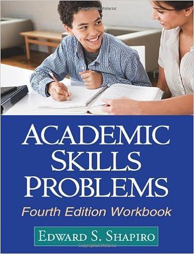 Academic Skills Problems Fourth Edition Workbook