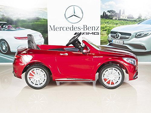51sjLxEi0HL - BIG TOYS DIRECT Mercedes-Benz S63 Ride on Car Kids RC Car Remote Control Electric Power Wheels W/ Radio & MP3 Red