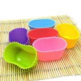 Oval Shape Silicone Mould Candy Muffin Cup Cake Tools Diy Sugarcraft Kitchen Mini Baking