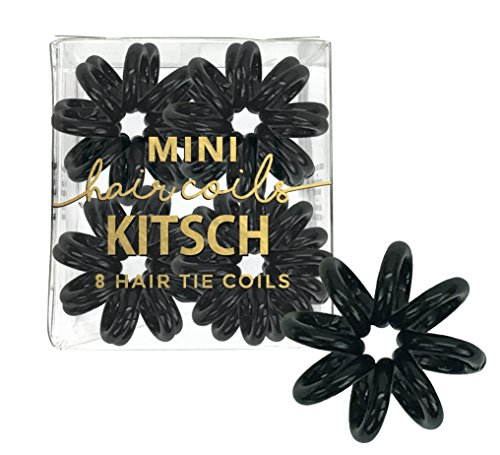 Kitsch 8 Piece Mini Hair Coil Set (Black)