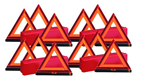 4 Sets, Early Warning Road Safety Triangle Kit, Reflective, 3 Triangles per Set