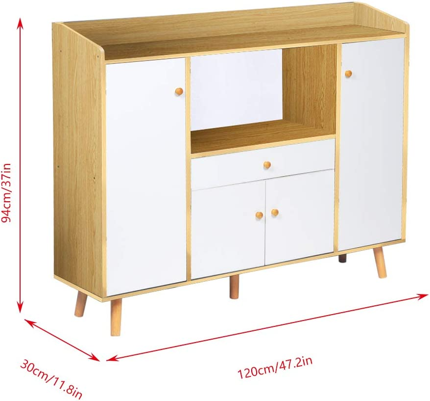 Floor-Standing Dining Room Corner Home Cabinet Living Room Multi-Function Storage Shelf Shelf Storage Board aHUMANs Kitchen Sideboard
