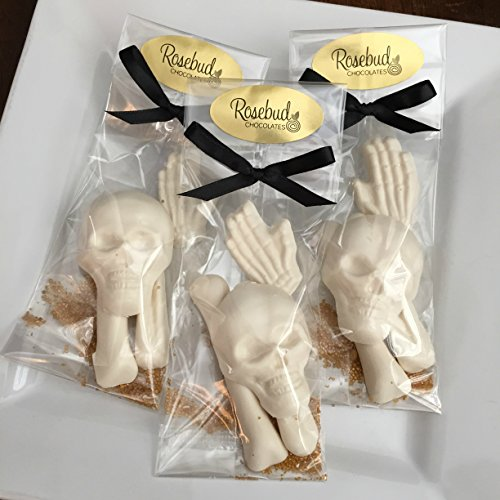 8 Chocolate BAG OF BONES Skull Skeleton Candy Party Favors