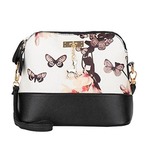 Sale Clearance Women Handbags Halijack Ladies Vintage Floral Zipper Leather Messenger  Bag Female Casual Travel Purse Cosmetic Bag Summer Beach Bag Small ... 62fda12b2ddbe