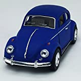 1967 Volkswagen VW Classic Beetle bug Matt Blue Kinsmart 1:32 DieCast Model Toy Car Collectible