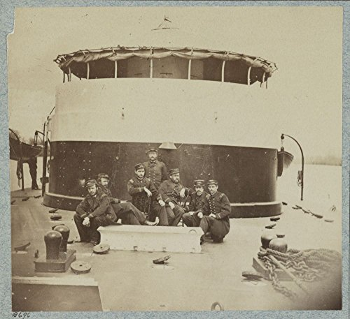 Best-selling Historic Photos 1861 Photo Officers deck monitor Saugus, James River, Virginia Location: