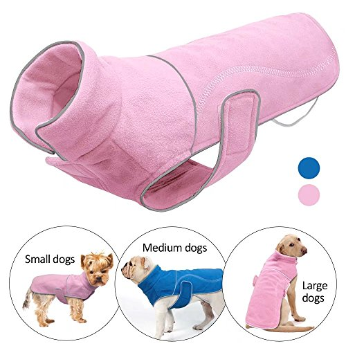 - Didog Reflective Fleece Dog Coat Jackets Vest for Small Medium Large Dogs in Cold Weather,Pink,S Size