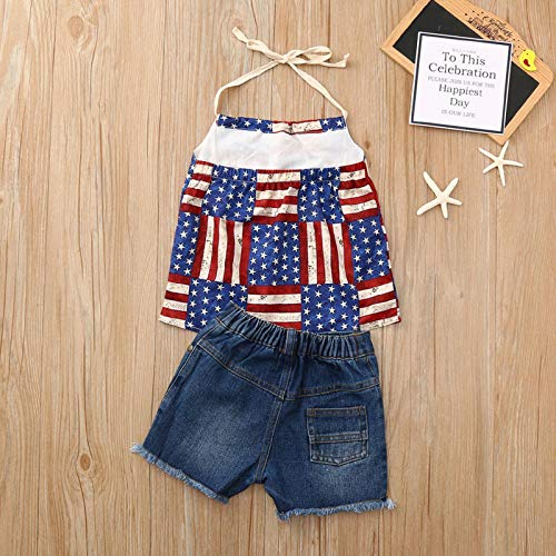Amazon.com: 2PCS Toddler Girl Summer Short Sleeve T-Shirt Tops+ ...