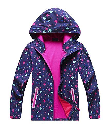 Jingle Bongala Kids Boys' Girls' Raincoat Waterproof Jacket Rain Jackets with Hood Outdoor Jacket Outerwear-Nstar-150