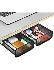 Schuifladen onder bureau, opbergbox onder het bureau, zelfklevende verborgen lade, organizer voor onder tafel, geschikt voor thuis, kantoor, school, cosmetica, schaar