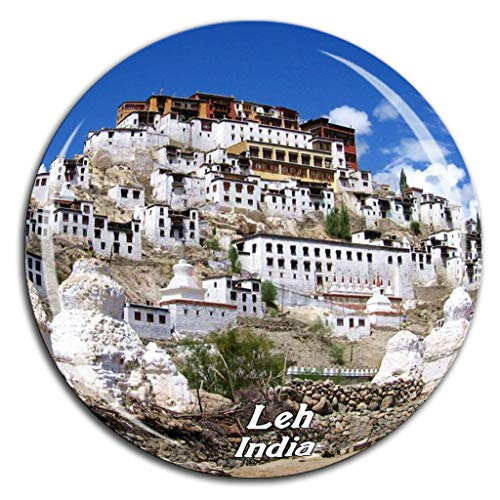 Thiksey Monastery Leh India Fridge Magnet 3D Crystal Glass Tourist City Travel Souvenir Collection Gift Strong Refrigerator Sticker