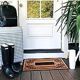 Slonser Welcome Doormat - Entrance Rug - Entry Door Mat - Rubber Doormat - Welcome Mat Beach - Office Door Mat - Home Plate Welcome Mat - Bienvenidos Doormat