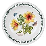 Portmeirion Exotic Botanic Garden Pasta Bowl with Hibiscus Motif, Set of 6