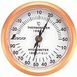 シンワ測定 温湿度計 U-3 丸型 6.5cm 72669