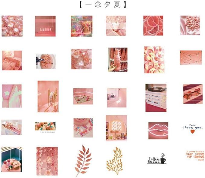 SDRTYHJ Pegatina 60 unids/Pack Papelería Pegatinas Old Life Diary Planner Decorativo Pegatinas Móviles Scrapbooking DIY Craft Stickers F: Amazon.es: Hogar