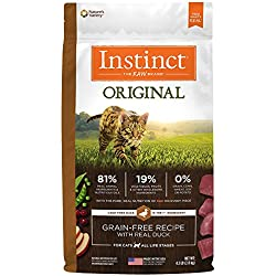 Instinct Original Grain Free Recipe with Real Duck Natural Dry Cat Food by Nature's Variety, 4.5 lb. Bag