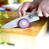 Chef Knife - Ultimate Kitchen Tool for Cutting Meat, Cheese & Vegetables - Premium Sharp Blade for Easy & Fast Slicing - Superb Stainless Steel Multipurpose 8'' Straight Edge Knives (1-pack)