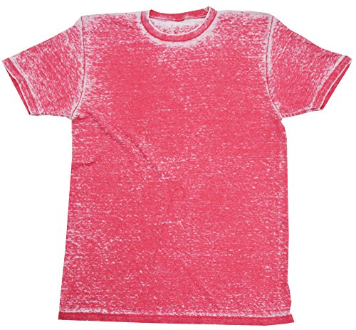(Acid Wash Burnout T-Shirts Adult S-3 X 60/40 Cotton/Polyester Blend (Medium, Ruby))