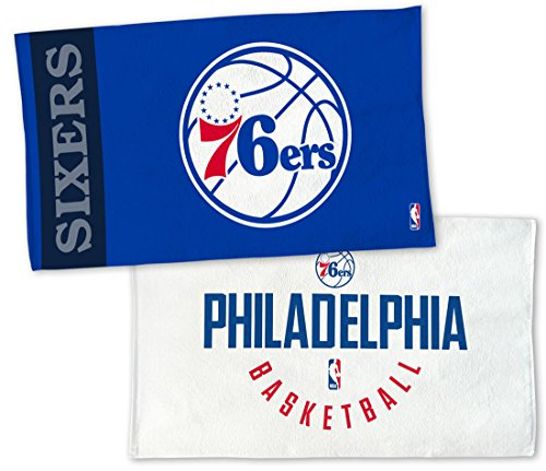 WinCraft NBA Philadelphia 76ers On Court Towel, NBA Locker Room Authentic Edition 22x42 inches by WinCraft
