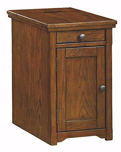 Ashley Furniture Signature Design - Laflorn Chair Side End Table - Rectangular - Light Brown