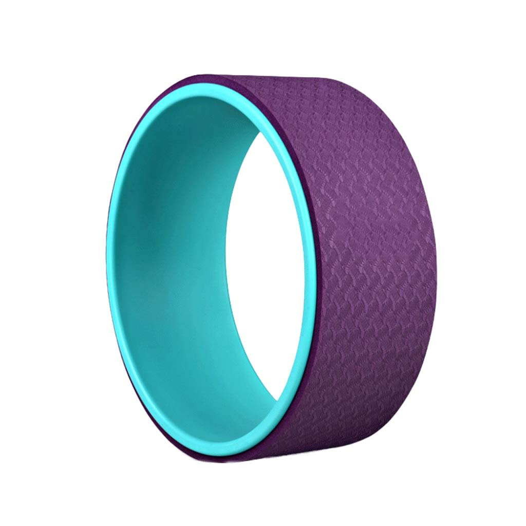 HY Yoga Wheel - [Pro Series] Strongest & Most Comfortable Dharma Yoga Prop Wheel, Perfect Accessory for Stretching and Improving Backbends (Color : Deep Purple)