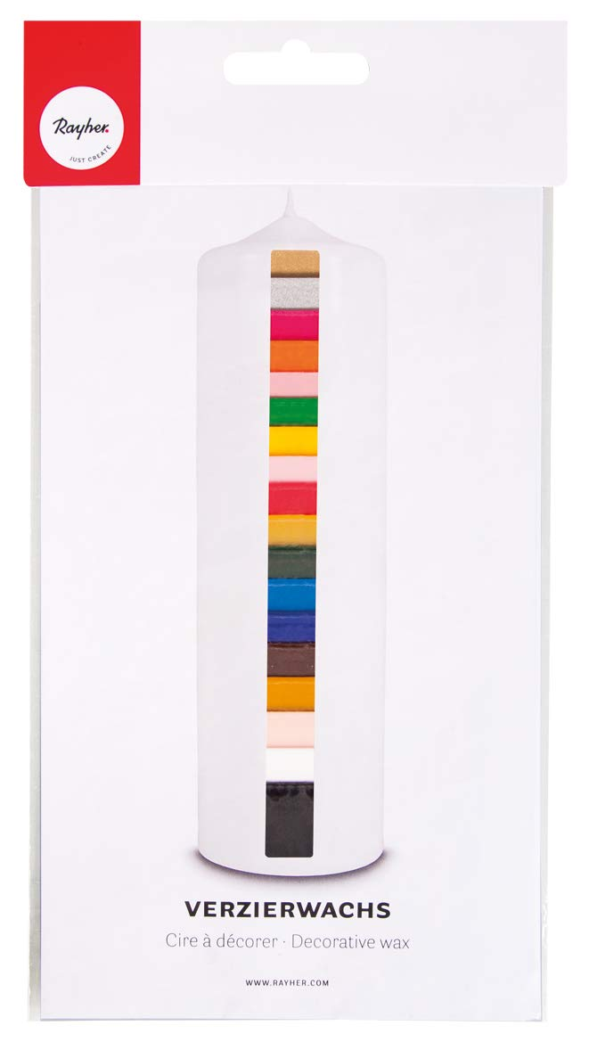 RAYHER 3102600Schermo di cera, busta 18colori assortiti, 10x 5cm Rayher Hobby
