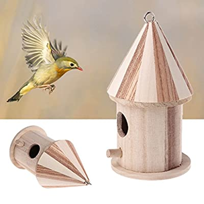 SYlive Bird Nest , Wooden Nesting Nest Box Bird Small House