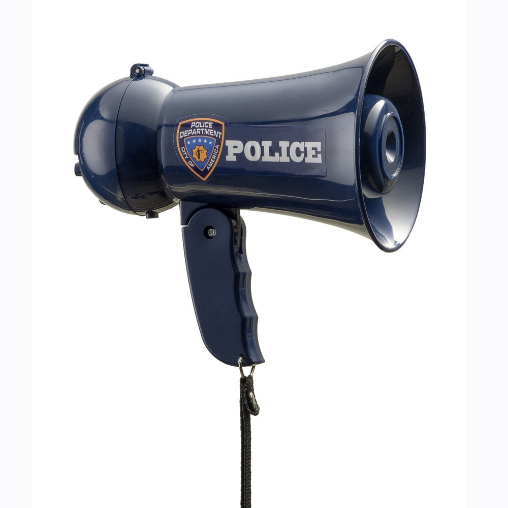 Dress Up America Pretend Play Police Officer's Megaphone with Siren Sound For Kids By by Dress Up America