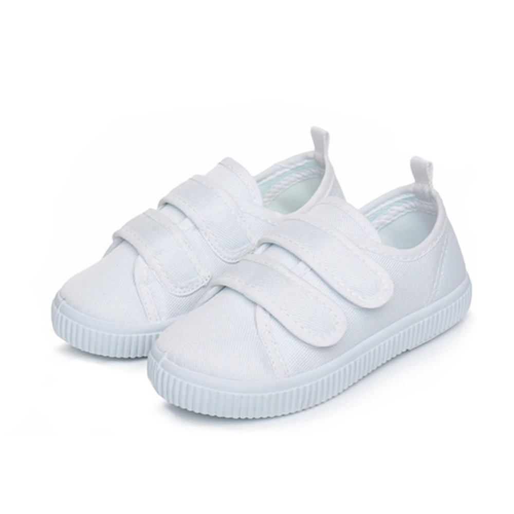 YING LAN Kids Boy's Girl's Canvas Sneakers Classic Low-Top Velcro Tennis Shoes (Toddler/Little Kid) 24