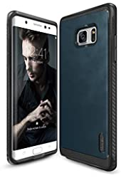 Galaxy Note 7 Case, Ringke [Flex S Series] Coated Textured Leather Style, Flexible TPU, Advanced Shock Protection, Durable Sophisticated Rustic Stylish Case For Samsung Galaxy Note 7 2016 - Deep Blue