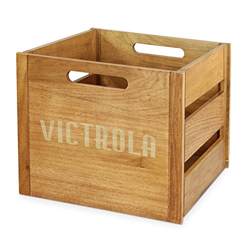 Victrola Wooden Record Crate (Wooden Crate Finished)
