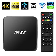Original M8S plus /M8S+ Android TV Box Set-top Box Amlogic S812 Quad Core Android 4.4 WIFI Bluetooth 4K Media Player