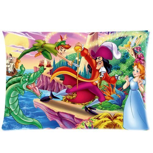 Cool Peter Pan Custom Zippered Pillowcase With Standard Size