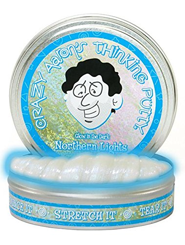 Crazy Aaron's Thinking Putty, 3.2 Ounce, Glow In The Dark Northern Lights