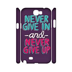 Never Give Up Wholesale DIY 3D Cell Phone Case Cover for Samsung Galaxy Note 2 N7100, Never Give Up Galaxy Note 2 N7100 3D Phone Case