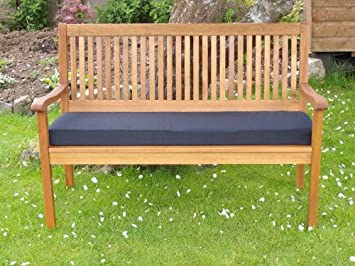 PnH® Black Garden Bench Cushion   (4ft) 48u0026quot; X 18u0026quot; ...
