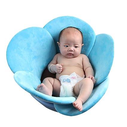 Hihey Baños para bebés Bebé recién Nacido Asiento de baño Flor Bañera doblada Fregadero de la bañera para niños pequeños Lotus Regalo de ...