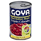 Goya Red Kidney Beans Habichuelas Coloradas Premium- 15.5 Oz Cans (6 Pack) by Goya Foods, Inc. [Foods]