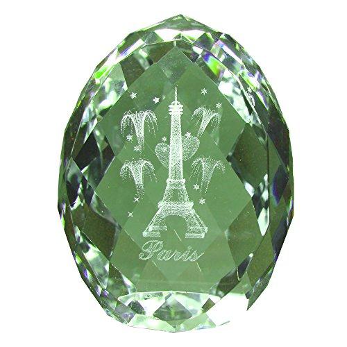 Souvenirs of France - Glass Paris Eiffel Tower Egg - Transparent (3.8x3.4x2.8cm - (Crystal Paris Eiffel Tower)