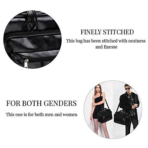 TrendStar - Bolso mochila  de piel sintética para mujer beige G - Beige Borgona